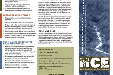Brochure on the Namibian Chamber of Environment