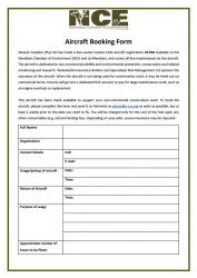 Aircraft Booking Form